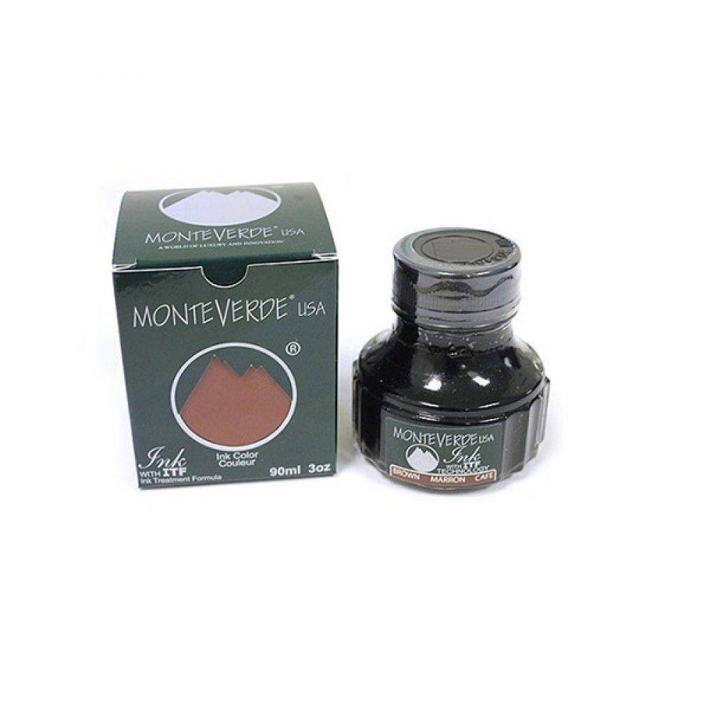 Frasco de Tinta Marron Monteverde 90ML