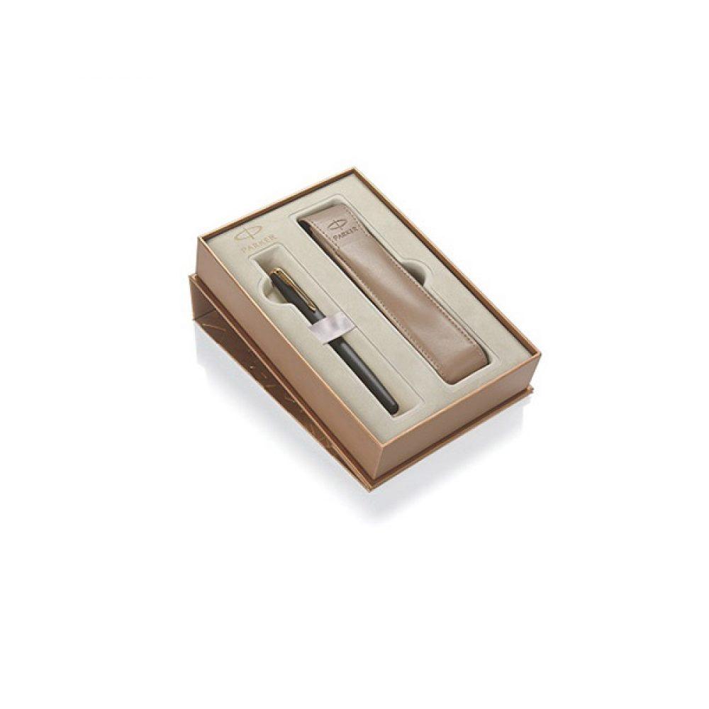 Lapicera de Pluma PARKER SONNET  con funda de cuero en estuche de regalo
