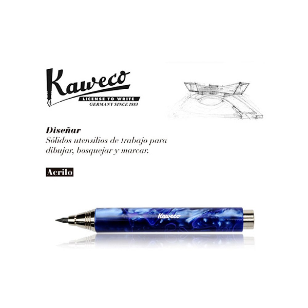 Portaminas Kaweco Acrilico Azul Jaspeado 5,6mm