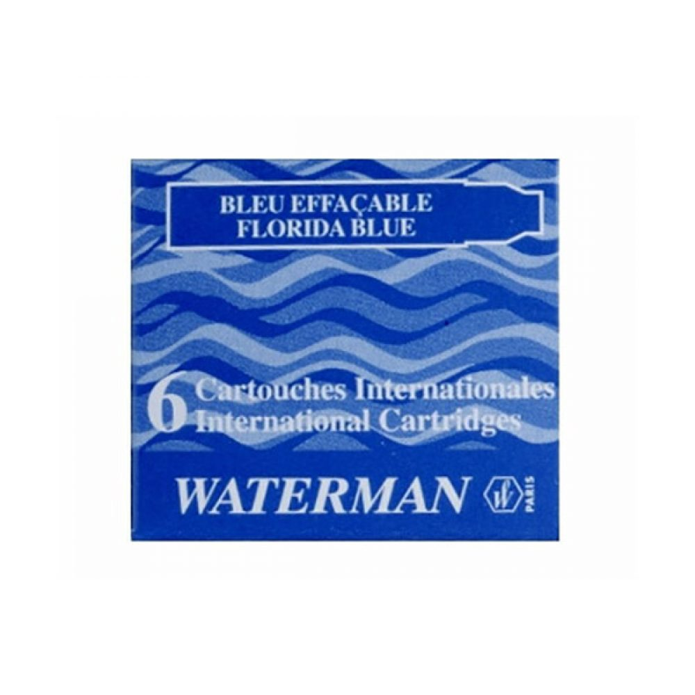 Cartuchos Lady Waterman x 6 Azul