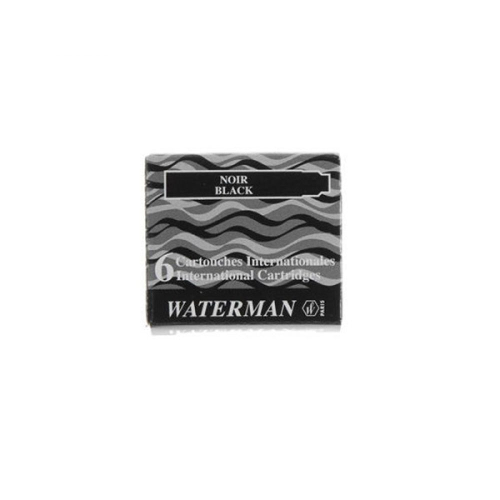 Cartucho Lady Waterman x 6 U. Negro