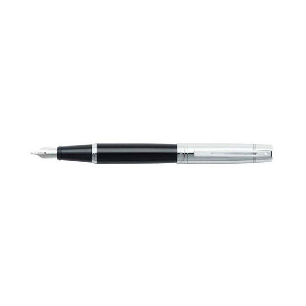 Lapicera de Pluma SHEAFFER GIFT Collection 300 Laca Negra/Capuchon Cromo