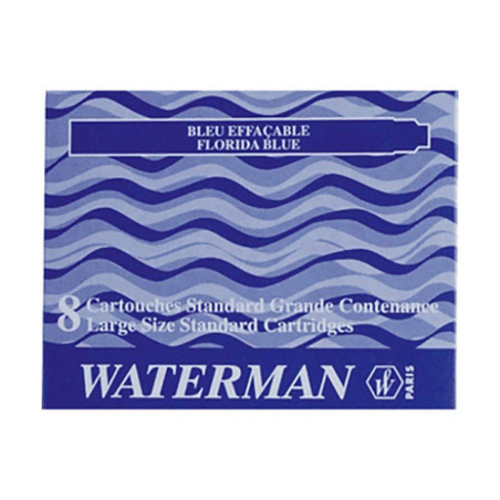 Cartuchos Standard Waterman x 8 U. color azul.