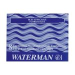 Cartuchos Standard Waterman x 8 U. color azul.